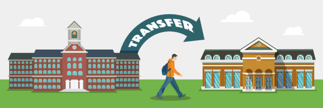Transfer from one university  to another